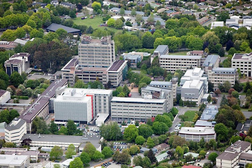 aerial view whole campus